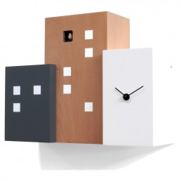 """Walls Cucu"" Cuckoo Clock - Black, Pear Wood & White"