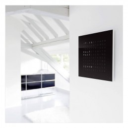 QLOCKTWO Wall Clock - Black