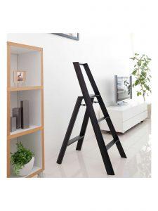 3-Step Stool - Black- Lifestyle Photo