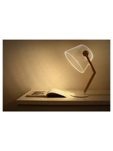 Ambient light ZIGGi Lamp in Natural Finish by Bulbing