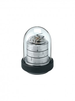 Small Domed Weather Station 15mm in Nickel & Black Wood