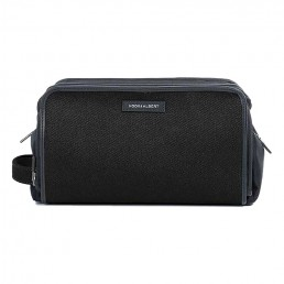 black cloth dopp kit -side - hook & albert
