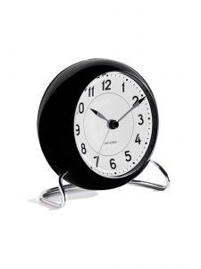 station table clock arne jacobsen black 2 1