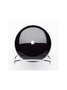 station table clock arne jacobsen black back 1