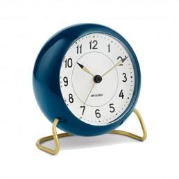 station table clock arne jacobsen petrol blue 2 1