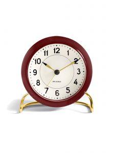 station table clock arne jacobsen racing burgundy 1