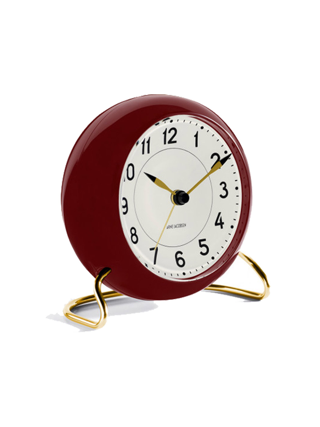 station table clock arne jacobsen racing burgundy 2 1