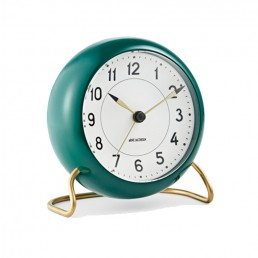 station table clock arne jacobsen racing green 2 1