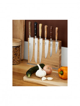 chef knife set laguoile with block lifestyle laguiole