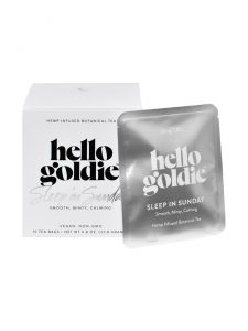 sleep in sunday cbd tea hello goldie packaging
