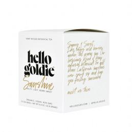 sunshine cbd tea hello goldie front side