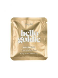 sunshine cbd tea hello goldie sachet