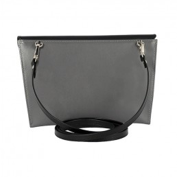 maxmin cross body clutch hester van eeghen black taupe grey back