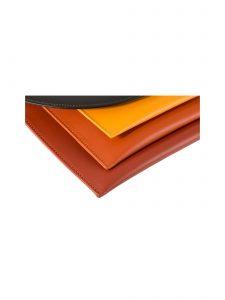 maxmin cross body clutch hester van eeghen brown dark orange brick detail