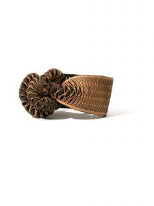 rattlesnake leather bracelet natural oropopo
