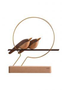 wood bird pen on a perch mufun