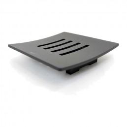 Abbaco Square Black Matte Steel Soap Dish
