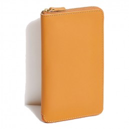 Italian Maple Tall Leather Coupe Wallet WIth Zip Around