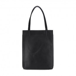 Minimalist Profile Matte Leather Tote