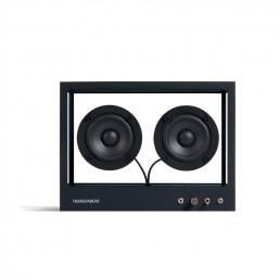 transparent speaker small black front 1