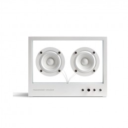 transparent speaker small white front