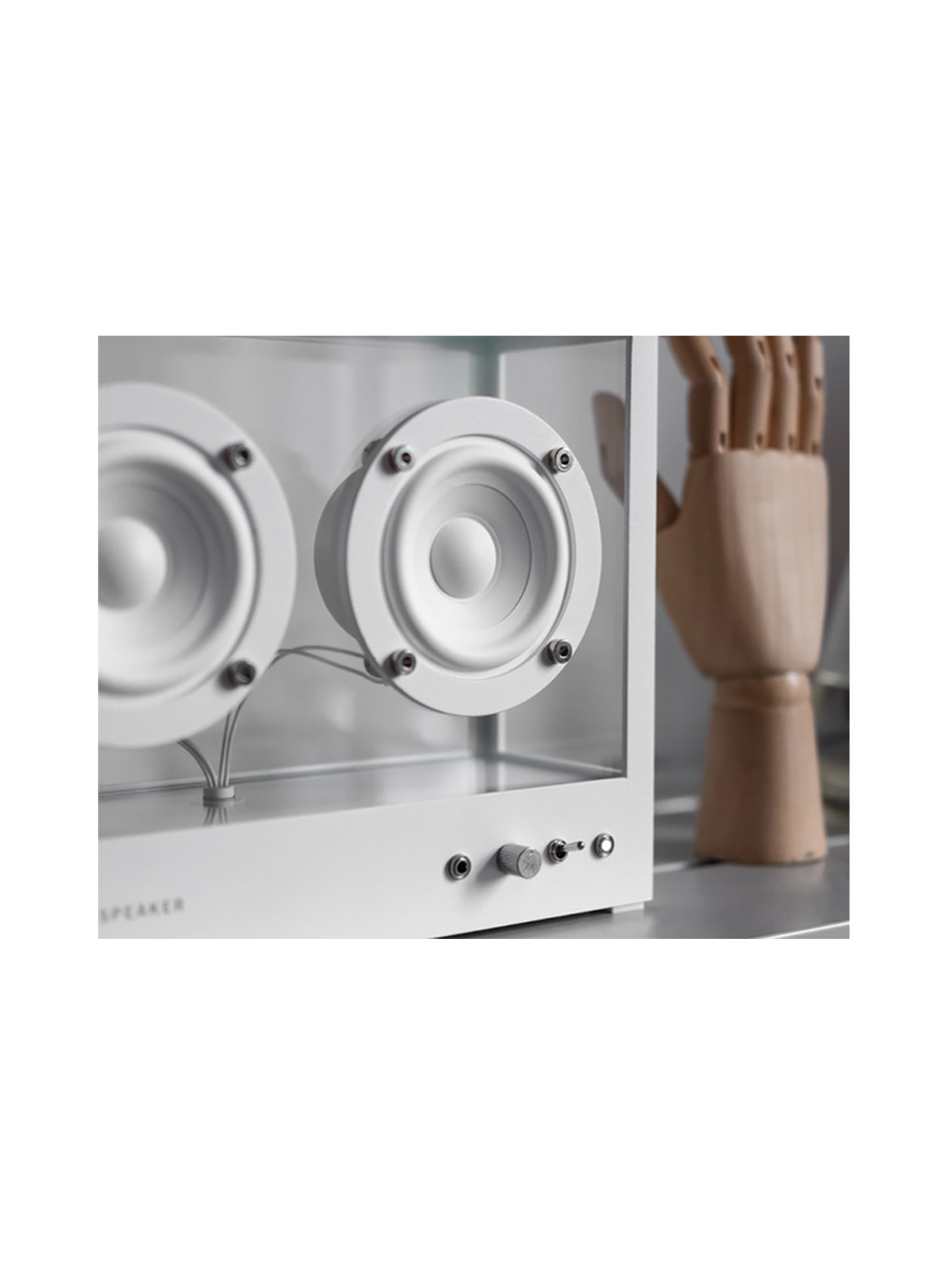 transparent speaker small white lifestyle 5