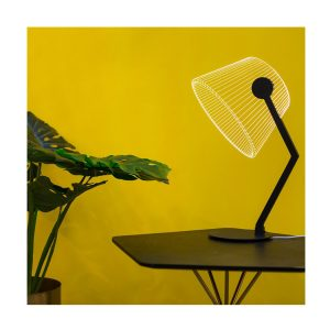 Ambient Light ZIGGi Lamp In Black Finish by Bulbing