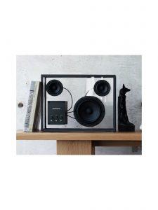 transparent speaker large black black wires lifestyle 8
