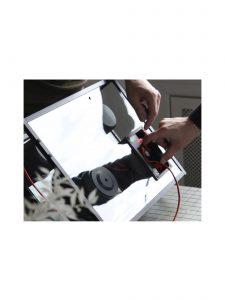 transparent speaker large black red wires rear upgradeable