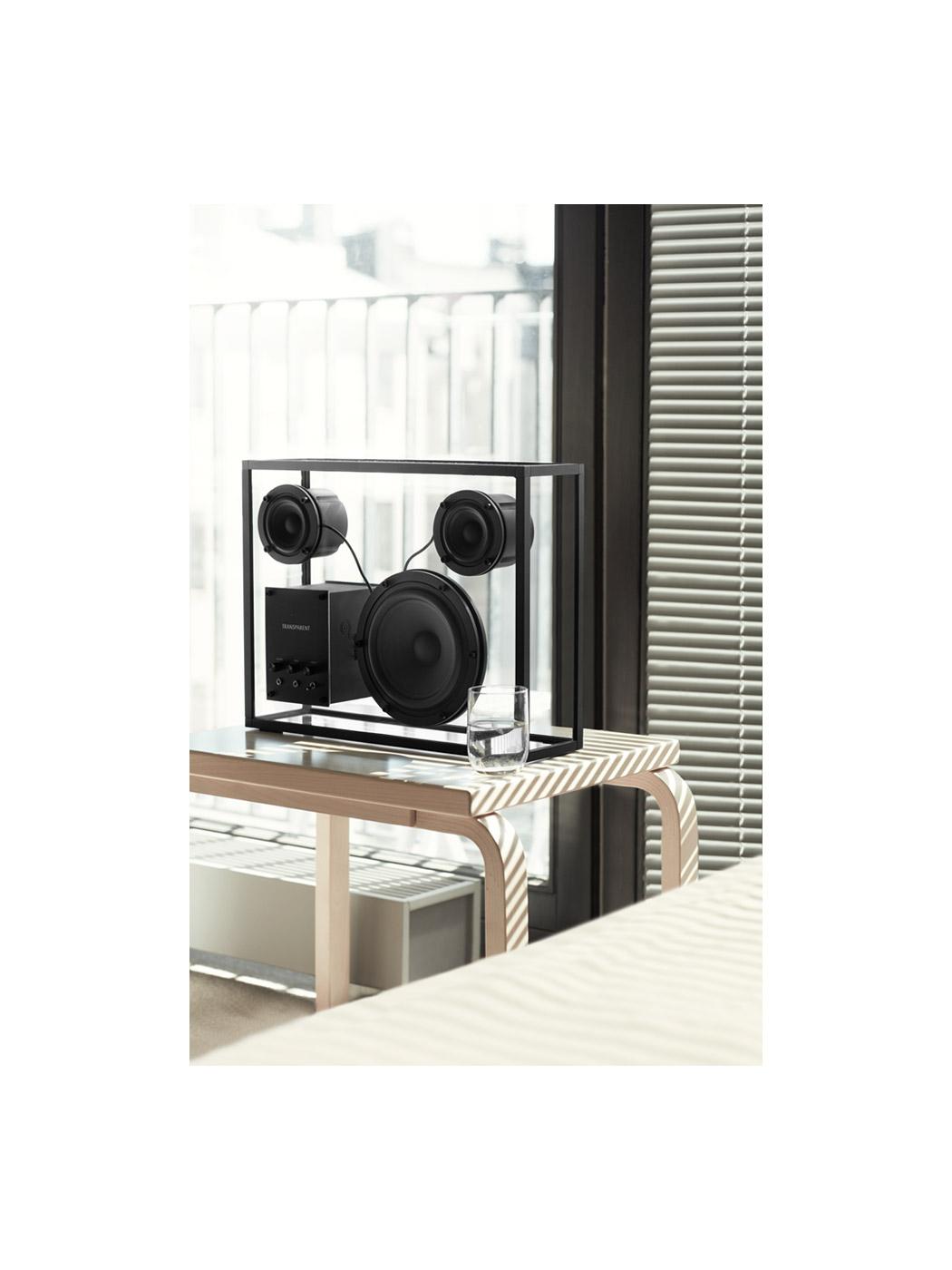transparent speaker large window