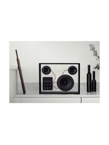 transparent speaker small black lifestyle 1