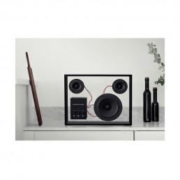 transparent speaker small black lifestyle 1