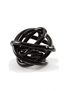 glass knot sculpture black