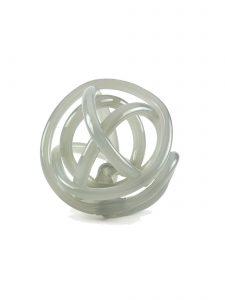 glass knot sculpture gray
