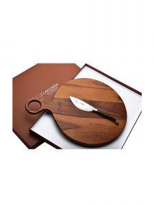 ebony pizza knife and pizza peel laguiole en aubrac