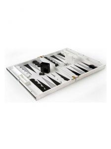 backgammon set black white kuji open