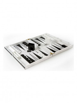 backgammon set black white kuji open
