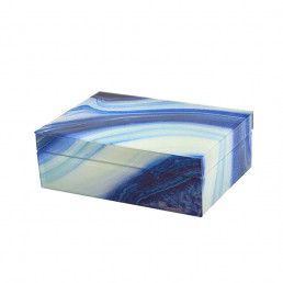 marbled storage box blue large closed
