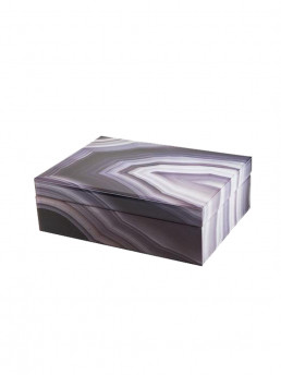 marbled storage box gray purple large closed