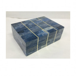 storage box mosaic bone blue brass kuji small