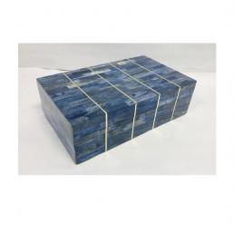 storage box set mosaic bone blue brass kuji large