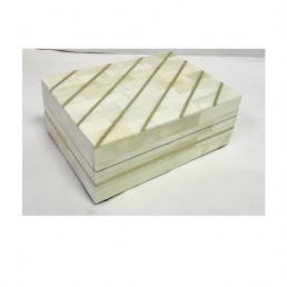 storage box set mosaic bone white brass kuji small