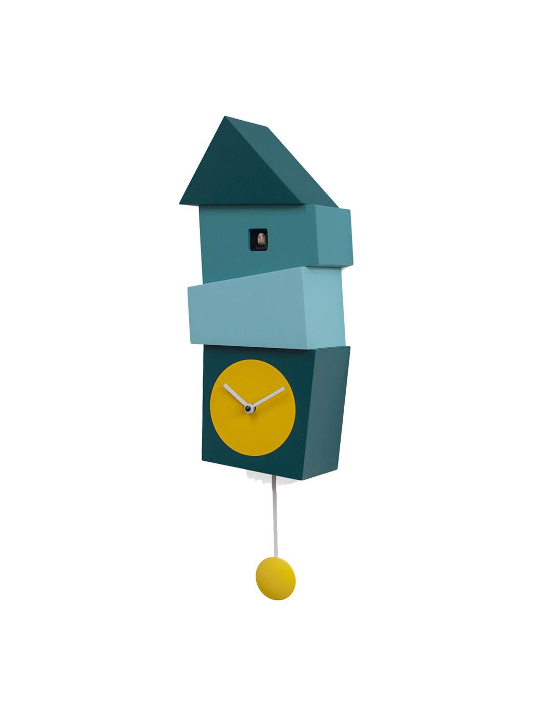 crooked cuckoo clock progetti blue yellow side