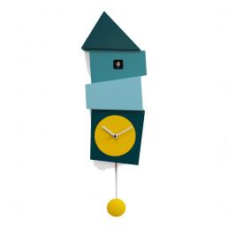 crooked cuckoo clock progetti blue yellow