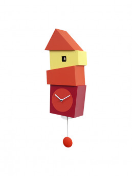crooked cuckoo clock progetti red yellow side