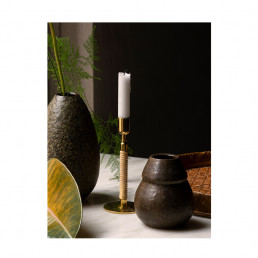 duca polished brass candle holder lifestyle 1