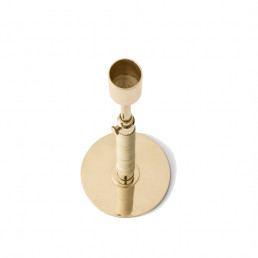 top view duca polished brass candle holder