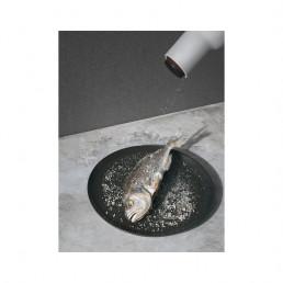 salt pepper bottle grinder menu ash carbon steel in use