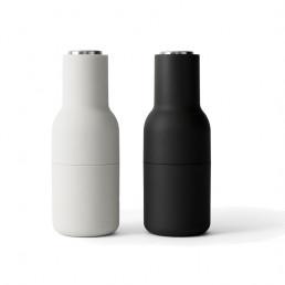 salt pepper bottle grinder menu ash carbon steel lids front
