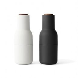 salt pepper bottle grinder menu ash carbon walnut lids front